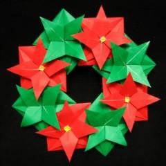 折り紙リースの折り方簡単な作り方アレンジでおしゃれなインテリアに