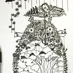 切り絵の作り方は簡単折り紙を使ったアート風やプリントしてtシャツに