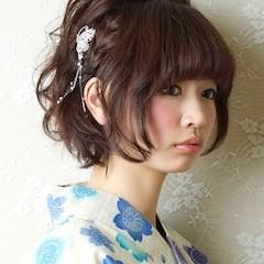 浴衣に似合う髪型、ショート・ボブ編!簡単ヘアアレンジを紹介!