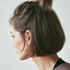 ショートボブ まとめ髪